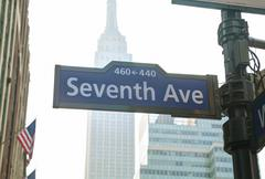 Seventh avenue sign Stock Photos