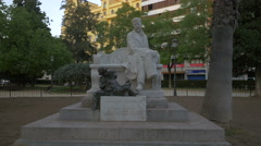 Statue of Dr Ramon Gomez Ferrer in Valencia Stock Footage