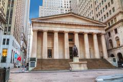 Federal Hall National Memorial on Wall Street in New York Kuvituskuvat
