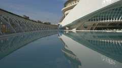 Buildings with modern design at the City of Arts and Sciences in Valencia Stock Footage