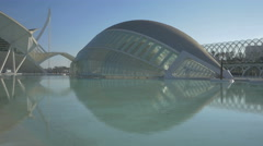 L'Hemisfèric, an IMAX Cinema, planetarium and laserium in Valencia - stock footage