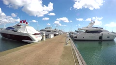 Time lapse of a harbor full of yachts at casa de campo marine, la romana, dom Stock Footage