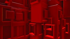 Red blocks news style abstract motion background Stock Footage