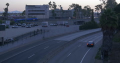 10 Freeway Santa Monica at Dawn - stock footage