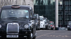 Black Cab Drivers Protesting Uber In London Stock Footage