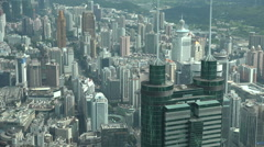 Shenzhen skyline, central business district, skyscrapers, modern city China - stock footage