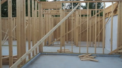 New House Framing and Construction Stock Footage