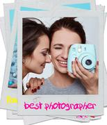 Interior lifestyle portrait of two best friends hipster crazy girls - stock photo