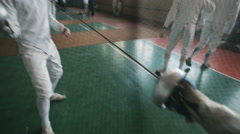 Fencers on a training Stock Footage
