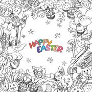 Awesome Happy Easter card in vector Stock Illustration