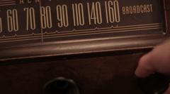 Old vintage radio Stock Footage