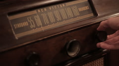 Tuning Old Timey Vintage Radio Stock Footage
