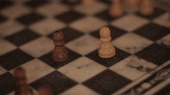 One pawn takes down another Stock Footage