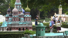 China Russia relations, symbolic, miniature Kremlin, politics, tourism, travel - stock footage
