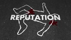 Reputation Chalk Outline Dead Body Killed Damaged Fatality - stock footage