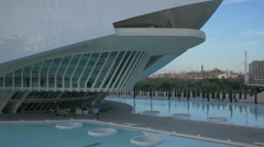 Restaurant at the Queen Sofia Palace of the Arts in Valencia Stock Footage