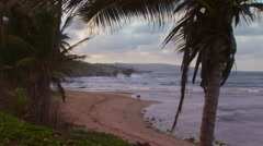 View of beautiful beach, Barbados Stock Footage