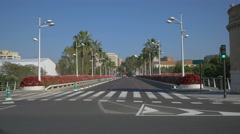 Driving on Pont de les Flors in Valencia Stock Footage