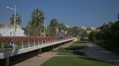Pont de les Flors in Valencia Stock Footage