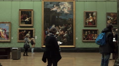 National Art Gallery London England 4K Stock Footage