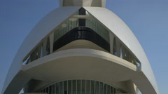 Front view of the Queen Sofía Palace of the Arts in Valencia Stock Footage