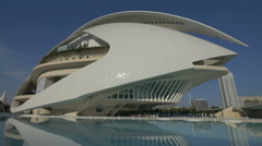 Queen Sofia Palace of the Arts in the City of Arts and Sciences in Valencia Stock Footage