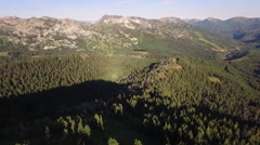 Aerial View of mountain range and landscape Stock Footage