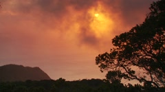 View of dramatic sky at sunset, Hawaii - stock footage
