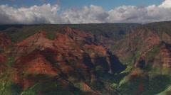 View of Waimea Canyon State Park in Kauai Stock Footage
