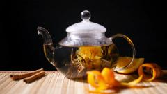 Florescence of Blooming Tea Stock Footage