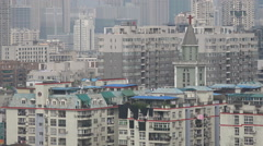 China religion, Christian church in residential neighborhood Wuhan Stock Footage