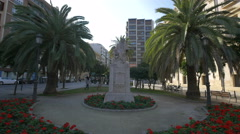 Monument to Pintor Pinazo in Valencia Stock Footage