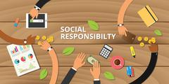 Customer business social responsibility Stock Illustration