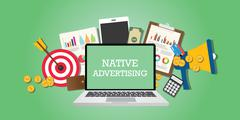 Native advertising concept with marketing Stock Illustration