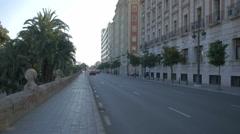 Buildings on Passeig de la Ciutadella in Valencia Stock Footage