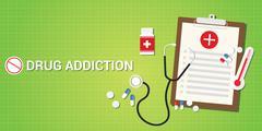 Drug addication concept Stock Illustration