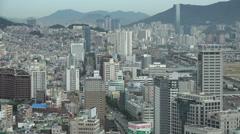 Skyline of Busan in South Korea Stock Footage