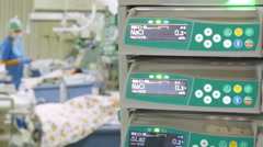 Syringe Pump in Pediatric ICU Stock Footage