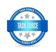 Task force seal sign concept Stock Illustration