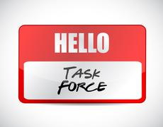 Task force name tag sign concept Stock Illustration