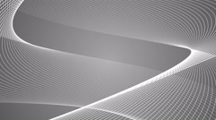 twabstract geometric twisting spiral loop motion background grey - stock footage