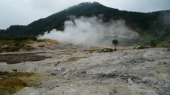 Sikidang Crater at Dieng Plateau, Java, Indonesia Stock Footage