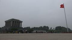 Ho Chi Minh Mausoleum in Hanoi, Vietnam - stock footage
