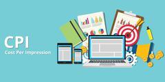 Cpi cost per impression impressions Stock Illustration