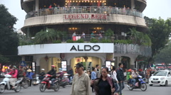 Entertainment, restaurant, bar, shopping plaza, central Hanoi, Vietnam - stock footage