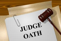 Judge Oath concept Piirros