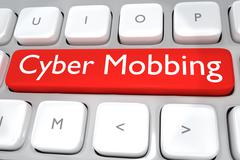Cyber Mobbing concept Piirros