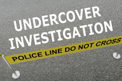 Undercover Investigation concept Stock Illustration