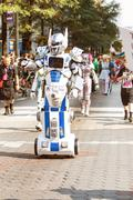 Person In Mobile Robot Costume Participates In Dragon Con Parade Stock Photos