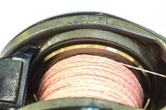 Close up Baitcasting reel Stock Photos